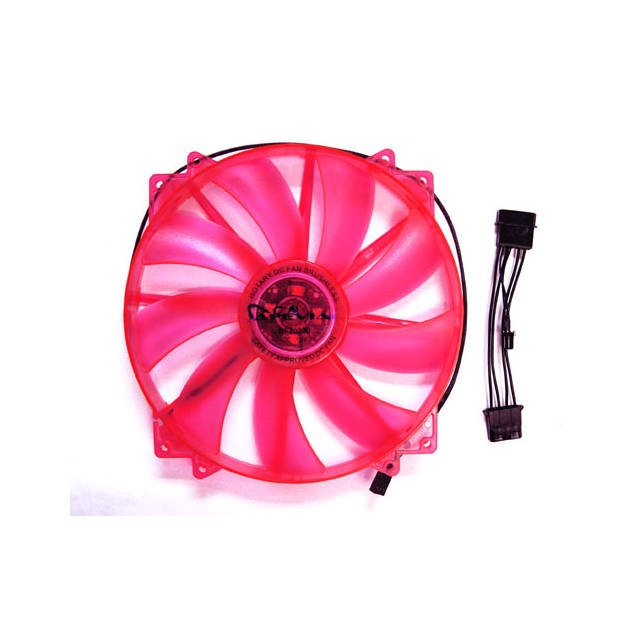 Apevia CF20SL-URD 200mm 4pin UV Red LED Case Fan by Apevia Corporation