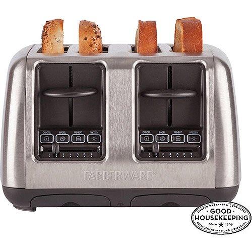 farberware 4slice toaster stainless steel