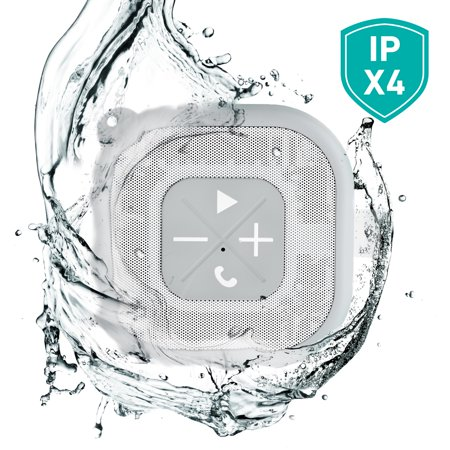 atomi Bluetooth Gray Shower Speaker with Phone Call Assistance, 1 Each