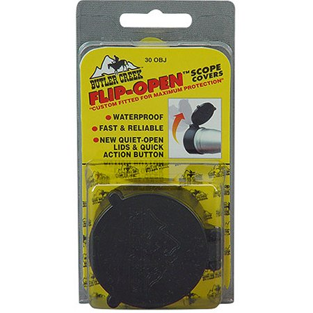 Butler Creek Flip Open Scope Cover  Fits 1 998   Objective  Size 31  Black