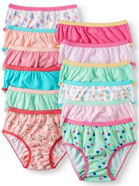 Wonder Nation Toddler Girls Underwear 100% Cotton, Super Comfortable Brief Panties, 12-pack (Toddler Girls)