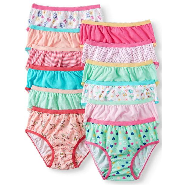 Wonder Nation Toddler Girls Underwear 100% Cotton, Super Comfortable Brief Panties, 12-pack