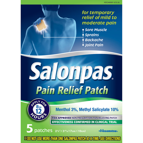 Salonpas Pain Relieving Patches, 5ct