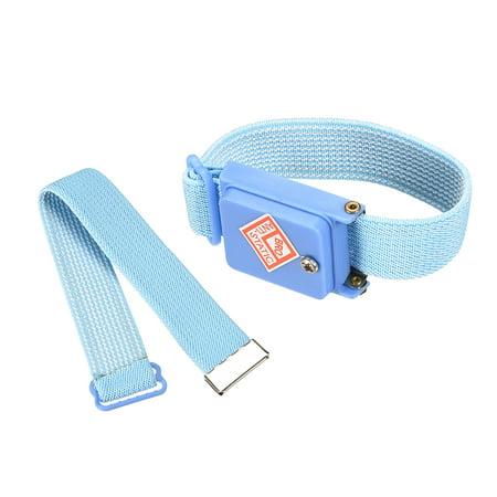 Cordless Anti Static ESD Wrist Strap, Wireless Antistatic Wristband Discharge Band Blue 2 pcs