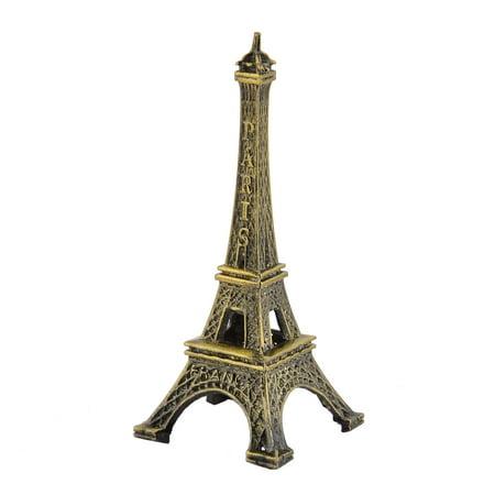 Home Metal Paris Eiffel Tower Model Ornament Collection Bronze Tone 8cm Height