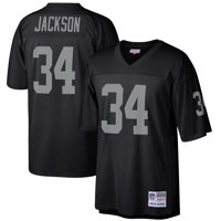 buy online 4dca4 aa7cc Product Image Mens Oakland Raiders Bo Jackson Mitchell   Ness Black 1988  Retired Player Vintage Replica Jersey
