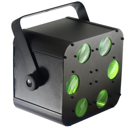 STAGG SDJ-PROTEUS-1 Proteus lighting system with 2 x 10-watt RGBW 4-in-1 LED producing multicoloured laser-like - Multicoloured Led