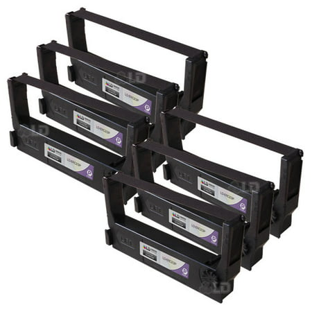 LD Compatible Replacements for Epson ERC-23P Set of 6 Purple POS Ribbon Cartridges for use in Epson ERC, M, RP, and