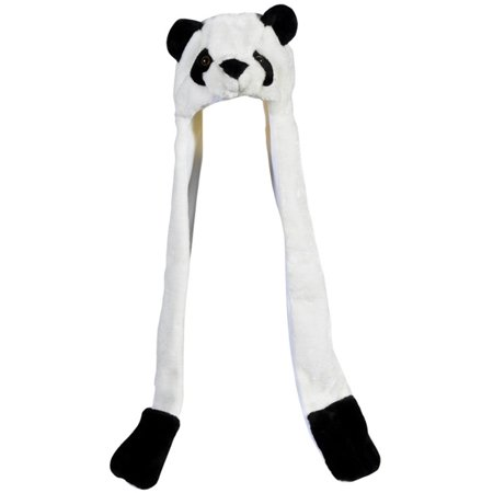 Plush Panda Hat Novelty Cap Animal Costume Beanie With Long Paws - Costume Hot