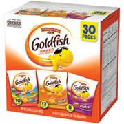 (2 Pack) Pepperidge Farm Goldfish Classic Mix Crackers, 29 oz. Variety Pack Box, 30-count Snack Packs