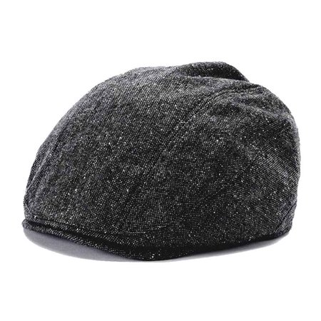 Croft & Barrow Men Donegal Tweed Driver Ivy Hat Black Charcoal Small/Medium