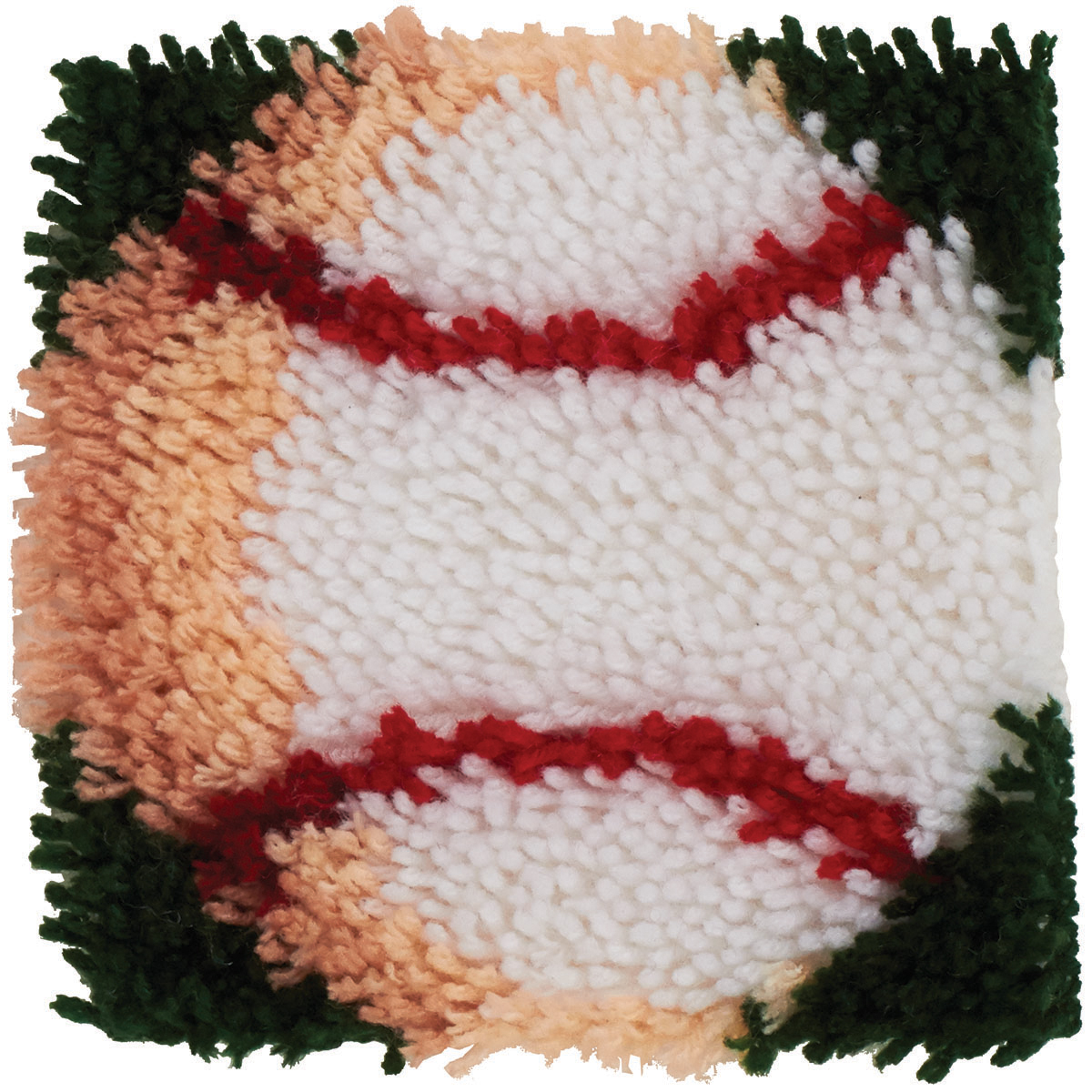 "Wonderart Latch Hook Kit, 8"" x 8"", Baseball"