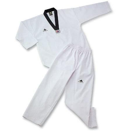 Pine Tree Taekwondo Uniform - Ribbed Fabric with Black V-Neck