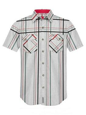 buy popular 8a1a7 c2772 Product Image Polaris RZR Fossil Creek Light Grey Short Sleeve T-Shirt Plaid