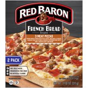 RED BARON Pizza, French Bread Singles Three Meat, 2 count, 11.00 oz