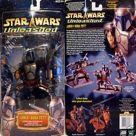 Star Wars Unleashed Jango And Boba Fett Deluxe Action Figure Set