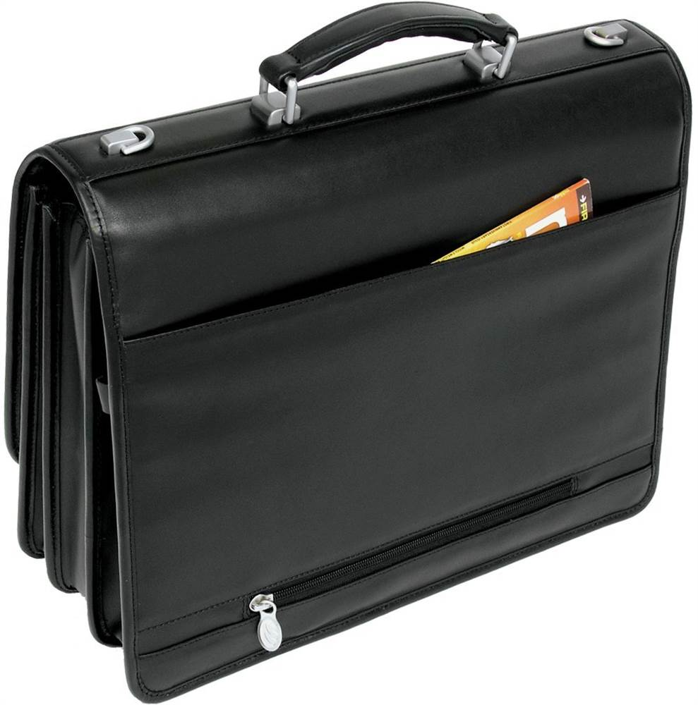 15.6 in. Triple Compartment Briefcase