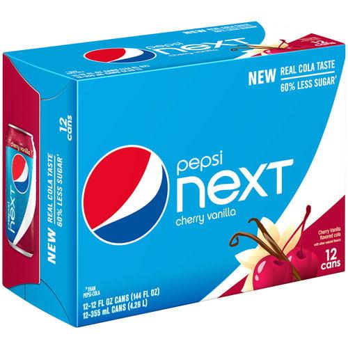 Pepsi Next Cherry Vanilla Cola, 12 fl oz, 12 pack