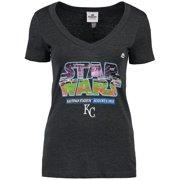 Kansas City Royals Majestic Women's 2015 Star Wars Day Stadium T-Shirt - Charcoal