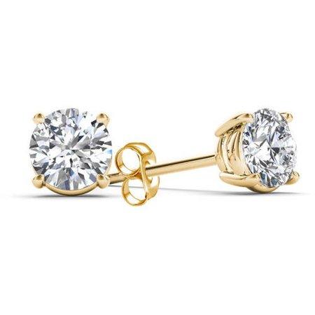 1/2 Carat T.W. Diamond 14kt Yellow Gold Classic Stud Earrings