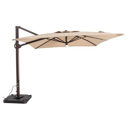 Sorara 10 By Feet Offset Cantilever Umbrella Square Outdoor Patio Hanging With Center