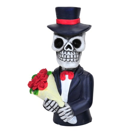 Day of the Dead Skeleton Bouquet of Roses Resin Figure 6