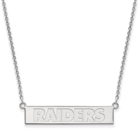 Oakland Raiders Sterling Silver Bar Necklace - No Size (Raiders Necklace)