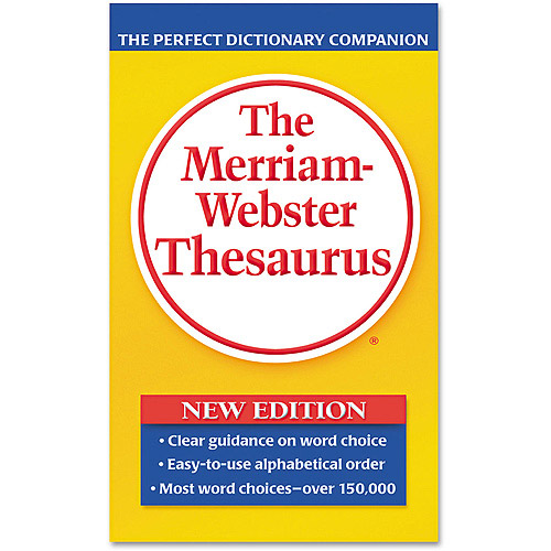 Merriam Webster Paperback Thesaurus, Dictionary Companion