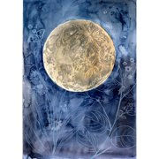 Mai Autumn Moon Garden by Christine Lindstrom Painting Print