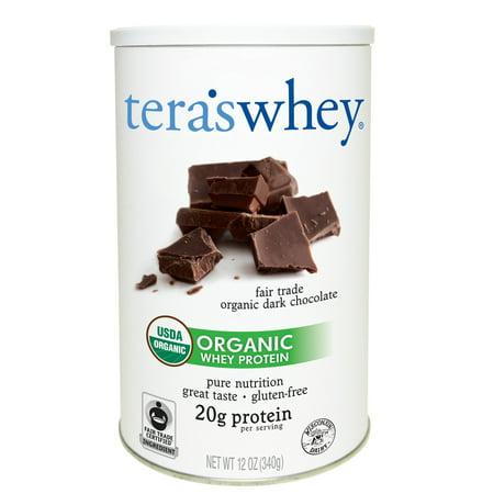 Tera's Whey Organic Whey Protein Powder, Dark Chocolate, 20g Protein, 0.75