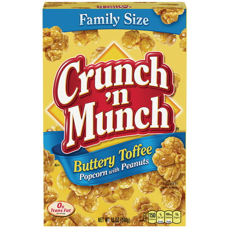 (4 Pack) Crunch 'n Munch Butter Toffee with Peanuts, 12 - 12 Ounce Centerpiece