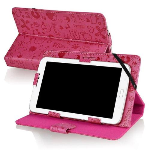 "Insten 7-Inch Tablet Leather Case For Nextbook/Double Power/RCA/Ematic/Nobis/Apex/Visual Land  Prestige 7"" Pink"