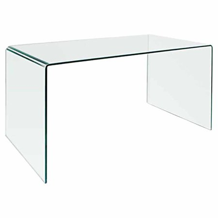 Creative Images International Bent Glass Office Desk   Cd009