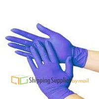 Blue Nitrile Examination Gloves, Non Latex, Powder Free, Multi-purpose, Disposable Medium (Pack of 100)