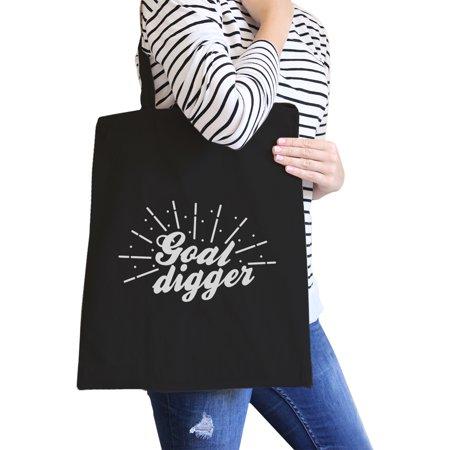 Goal Digger Black Canvas Shoulder Bag For Workout Funny Saying Gift