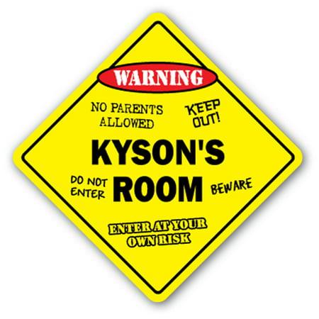 Kysons Room Sign Kids Bedroom Decor Door Childrens Name Boy Girl Gift