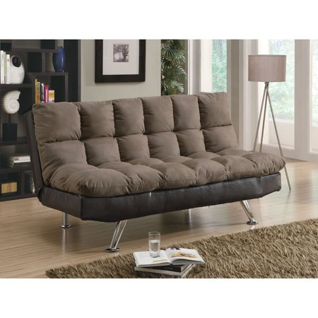 Coaster Two-Tone Sofa Bed, Brown