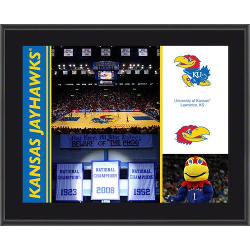 NCAA - Kansas Jayhawks Sublimated 10 x 13 Color Plaque