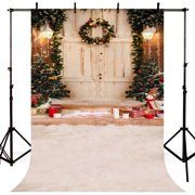 GreenDecor Polyster 5x7ft Christmas Theme Photography Backdrop Snow Garland Children Photo Backgrounds Party background for photo Studio