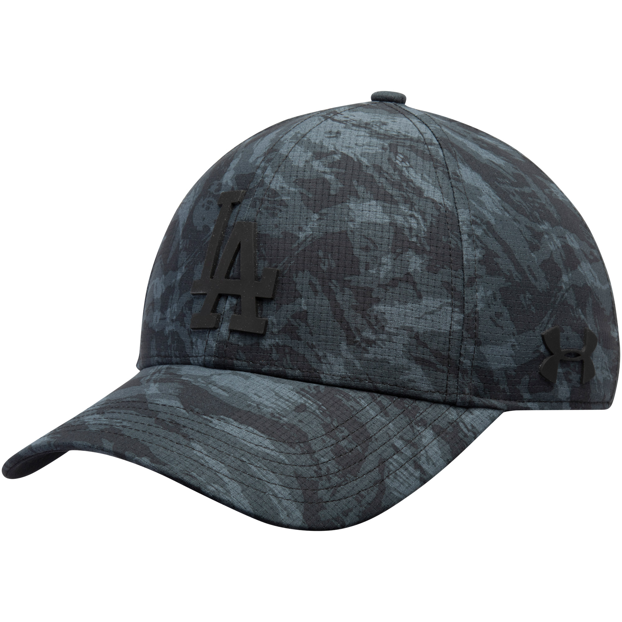 Los Angeles Dodgers Under Armour Tonal Camo Performance Adjustable Hat - Charcoal - OSFA