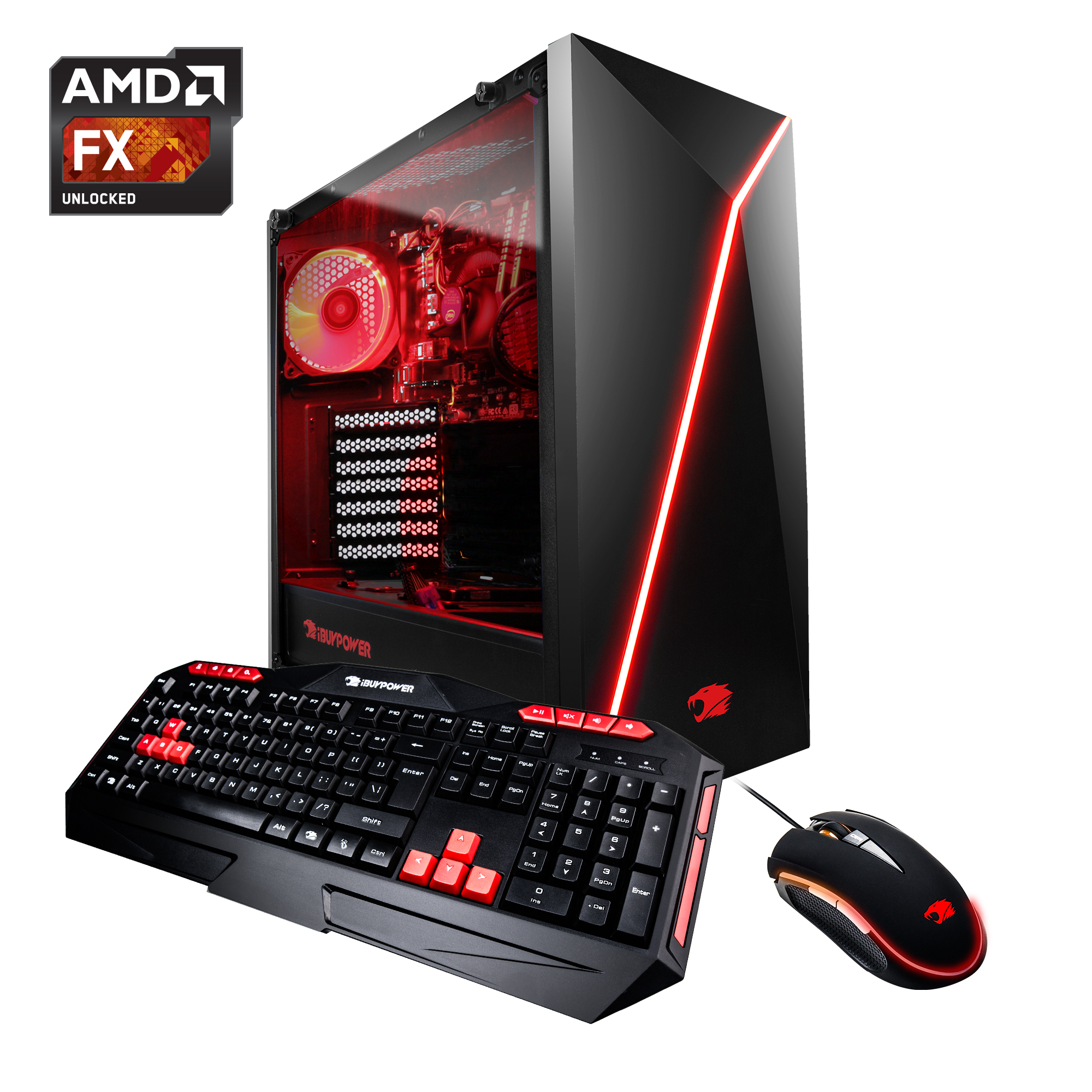iBUYPOWER WA010A Gaming Desktop PC With AMD FX-6300, GT710 1GB Graphic, 1TB Hard Drive, 8GB DDR4 Memory, and Window 10 Home. (Monitor Not Included) - WA010A