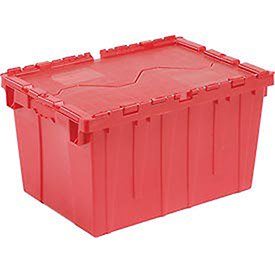 - Red Distribution Container With Hinged Lid 21-7/8x15-1/4x12-7/8, Lot of 1