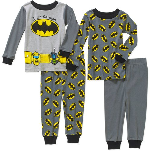 Batman Newborn Baby Boy Cotton Tight Fit Pajamas 4pc Set