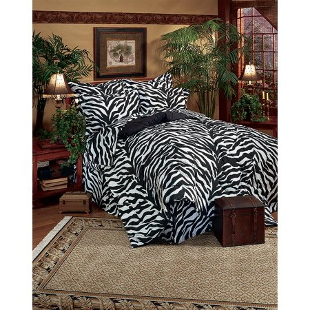 Black & White Zebra Bed in a Bag Set - Queen Size ()