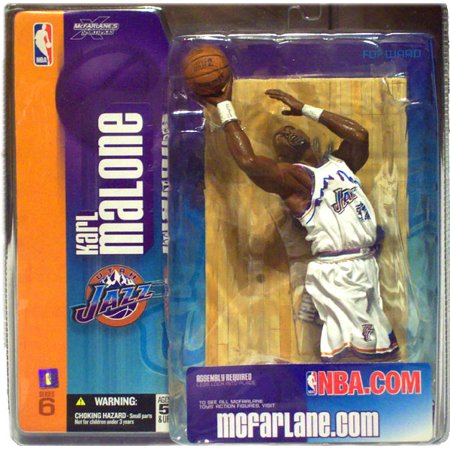 McFarlane NBA Sports Picks Series 6 Karl Malone Action Figure [White Utah