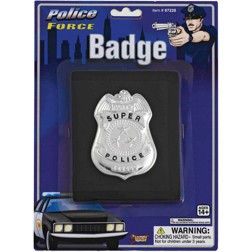 Police Badge with Wallet Adult Halloween Accessory