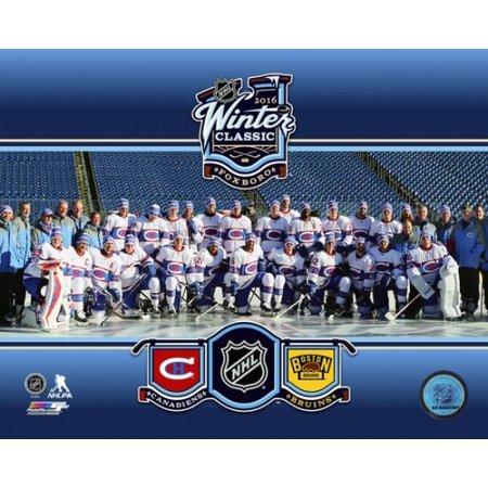 Montreal Canadiens Team Photo 2016 Nhl Winter Classic Photo Print