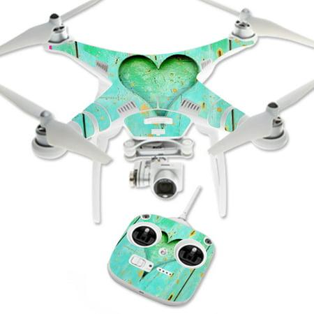 MightySkins Protective Vinyl Skin Decal for DJI Phantom 3 Standard Quadcopter Drone wrap cover sticker skins Barnwood