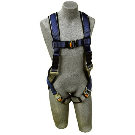 3M DBI-SALA ExoFit 1107975 Vest Style Harness, Back D-Ring, Loops For Belt, Quick-Connect Buckles, Small, Blue/Gray D-ring Belt Loop