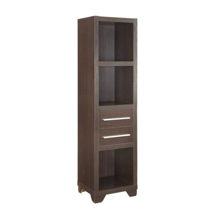 - Coaster 3 Shelf 2 Drawer Media Tower in Cappuccino